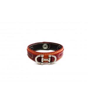 bracelet mixte en cuir de taurillon