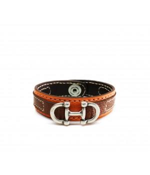 Bracelets de notre atelier bracelet mixte en cuir de taurillon