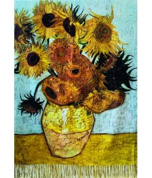 Écharpes Étole Réversible : Van Gogh Tournesols