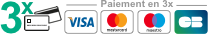 Paiement par Visa, Mastercard, PayPal